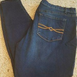 Mudd stretch tapered jeans